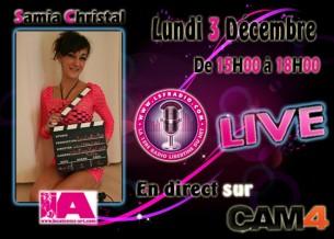 Samia Christal, actrice X pour une webcam sexy