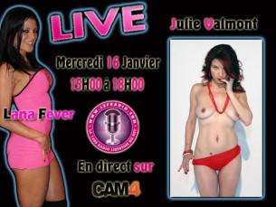 Julie Valmont et Lana Fever sur Cam4