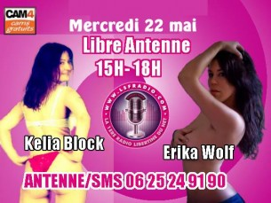 Kelia Block & Erika Wolf en Webcam sexy