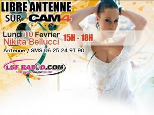Nikita Bellucci sur Cam4 pounr Cam Sexy avec LSF Radio