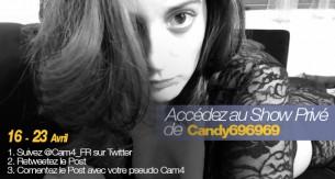 Gagnez une place pour le Show Privé et Sexy de Candy696969