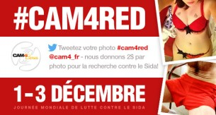 Cam4 soutient la lutte contre le sida avec #cam4red