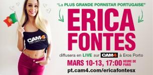 La Pornstar Erica Fontes diffusera en live lors d'un salon Adulte