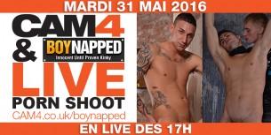 Gay Porn Shooting en Live sur CAM4 – Boynapped