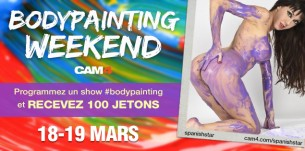 BodyPainting Weekend: Recevez 100 jetons