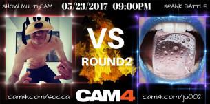 #Battlespank2: bataille de fessées CAM4 Mardi 23 Mai à 21h entre Ju002 et Socoa