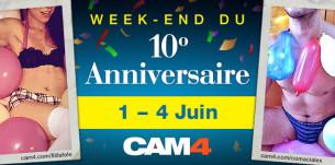 Joignez-nous pour célébrer le 10ème anniversaire de Cam4 !!!
