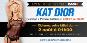 Show événement en free sexcam avec Kat Dior le 2 aôut à 1h du mat