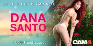 La star du porno italienne Dana Santo en chat porno sur Cam4 jeudi 3 août à 22h00!