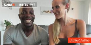 JolieCallie s'exhibe en webcam gratuite, ce couple libertin se livre dans cette vidéo interview sur CAM4 – part 1