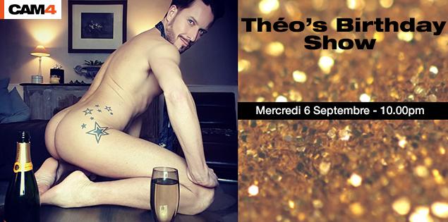 Venez fêter l'anniversaire de Théo, votre coach officiel: Mercredi 6 septembre à partir de 22h en free cam gay!