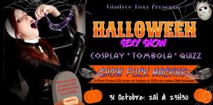 Gladyce_Foxy, gothique et fetish dans une webcam hot spéciale Halloween le 31 octobre 2018 de 21h à 23h30