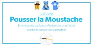 """Movember sur CAM4 : Faites un don à l'organisation movember en envoyant des cadeaux de la catégorie """"Movember"""""""