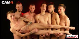 L'équipe renouvelée des Gaypards pour DiableX en live cam gay