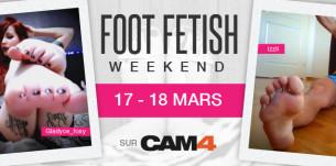 Week-end FOOT FETISH: dès maintenant sur CAM4 avec bas, sandales, talons, pieds et footjob!