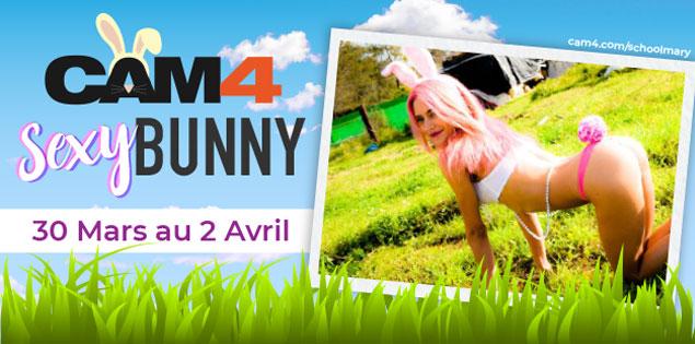 Passez un long week-end de Pâques sur CAM4! en compagnie de lapins sexy en webcam hot!
