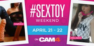 SexToy Weekend en CAM4! Concours de shows avec des sex toys!