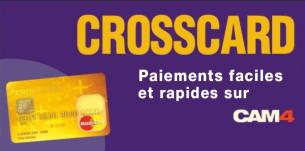 CAM4 et CROSSCARD s'associent pour offrir une nouvelle carte prépayée, bon marché et simple d'utilisation, pour récupérer vos jetons!