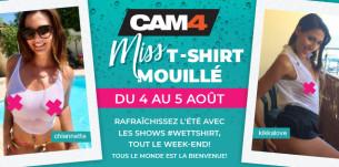Tétons durs et mouillés, le week-end de la compétition T-shirt mouillé commence!