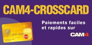 CAM4-CROSSCARD : une nouvelle carte prépayée, bon marché et simple d'utilisation, pour récupérer vos jetons!