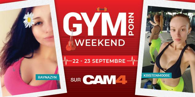 Ce week-end CAM4 devient une salle de GymPorn