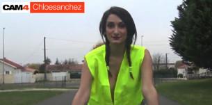 Chloé Sanchez, une Mani-fesse-tation divine , CAM4 supporte les gilets jaunes