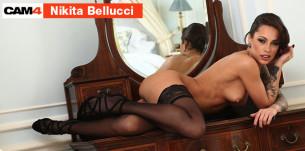 Nikita Bellucci, passionnelle en sex live cam, le 23, 24 et 25 Février à 22h sur CAM4 !