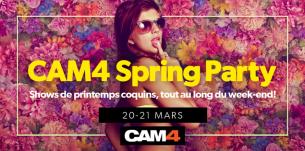 Sexy Spring Party les 20 et 21 mars – Ne manquez pas les shows de printemps de CAM4!